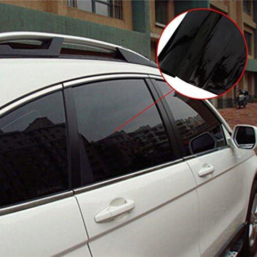 5 percento SODIAL 50cm X 3m Pellicola per oscuranti per vetri oscuranti VLT Nero Resistente ai graffi anti UV per trasmissioni commerciali per auto auto