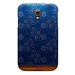 TanyaCulver Galaxy S4 Protective Hard Cell-phone Cases Provide Private Custom Realistic Blue Flowers Pattern [nvF17091KgsO]