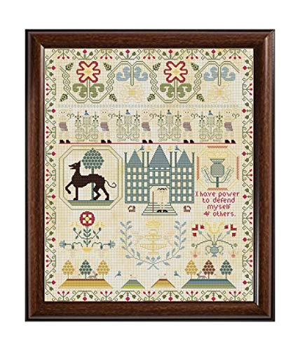 - Rare Antique 1765 Scottish Sampler Reproduction Cross Cross Stitch Counted Chart PDF on CD Unique Easy to Make Vintage English Embroidery Needlepoint European Scotland