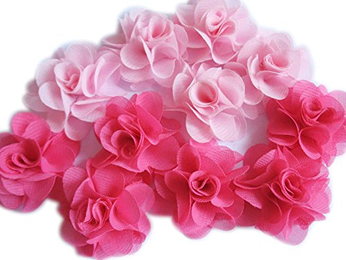 YYCRAFT Pack Of 30 Chiffon Flower 1.5