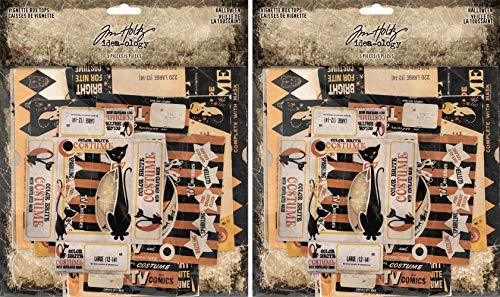 Tim Holtz Idea-Ology 2018 Halloween Vignette Box Tops - Two Packs - 10 Tops Bundle