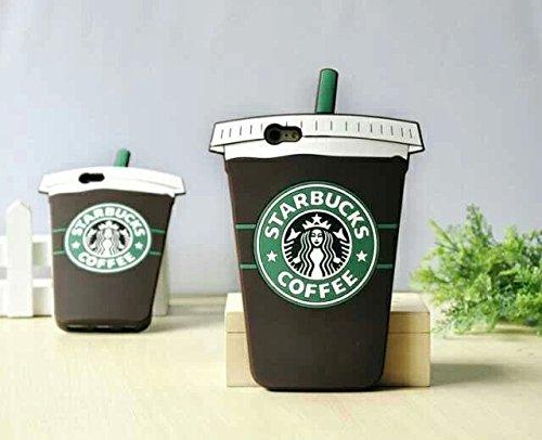 Starbucks Coffee Ice Cream Rubber Phone Case Wrapper for Iphone 6 Plus