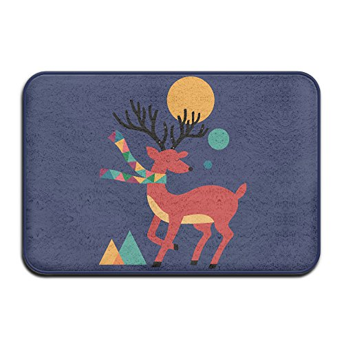 Deer Autumn Entry Way Outdoor Non-Skid/Slip Rug 23