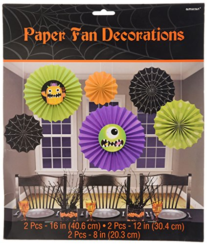 Amscan Boo Crew Monsters 6 Decoration Fan