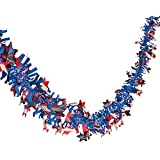"Patriotic Garland - 24 Ft. X 2 1/2"" - 4th of July Party Supplies"