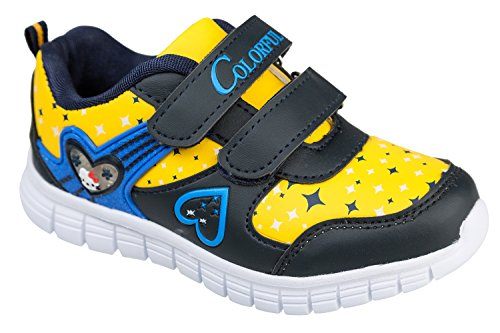 gibra - Zapatillas de Material Sintético para niño Negro - negro y amarillo