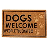 Mud Pie Dogs Welcome Door Mat Coir Doormat