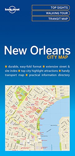 Lonely Planet New Orleans City Map [Lonely Planet] (Tapa Blanda)