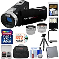 Bell & Howell Fun Flix DV50HD 1080p HD Video Camera Camcorder (Black) with 32GB Card + Battery + Case + Tripod + LED Light + Tele/Wide Lens Kit