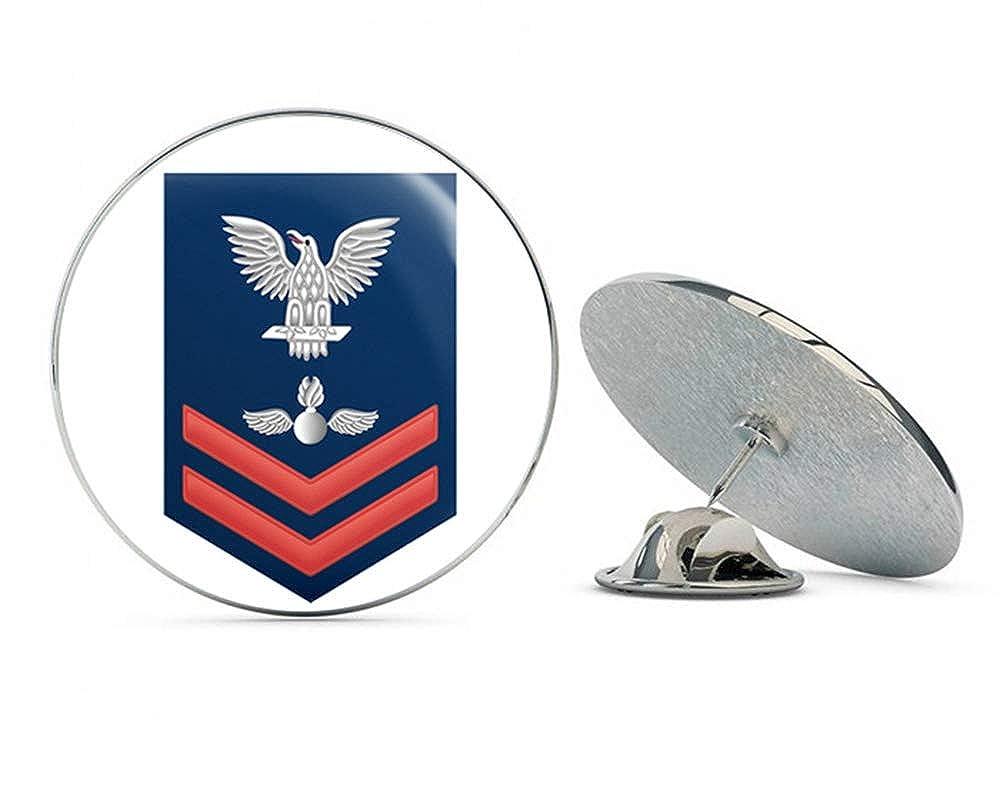 US Navy Red E-5 Aviation Ordnanceman AO Military Veteran USA Pride Served Gift Metal 0.75 Lapel Hat Pin Tie Tack Pinback Veteran Pins