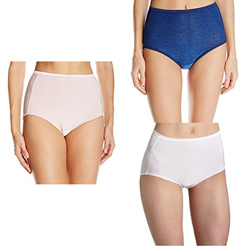 Vanity Fair Women's Illumination Brief Panty 13109, Bubbly/Admiral Navy/Star White, 2X-Large/9