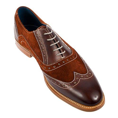 Barker Men's Grant Leather/Nubuck Brogue Shoe (3372FW12)