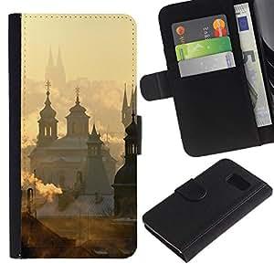 For Samsung Galaxy S6 SM-G920,S-type® City Vatican Sunrise Clouds - Dibujo PU billetera de cuero Funda Case Caso de la piel de la bolsa protectora