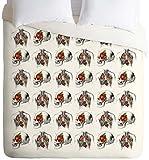 Negar diseños Iveta abolina Funda de edredón, Skulls and Roses, Twin/Twin XL, 1
