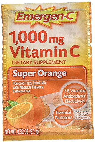 Emergen-C Vitamin C Flavored Fizzy Drink Mix Packets, Super Orange, 9.3 Ounce Review