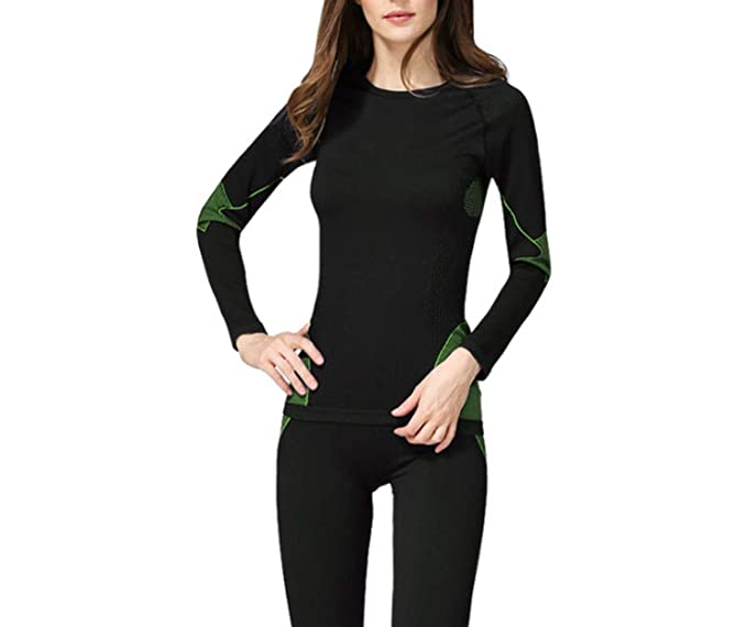 Bamboo Fiber Long Johns 2018 New Winter Women Thermal Underwear Sets at Amazon Womens Clothing store: