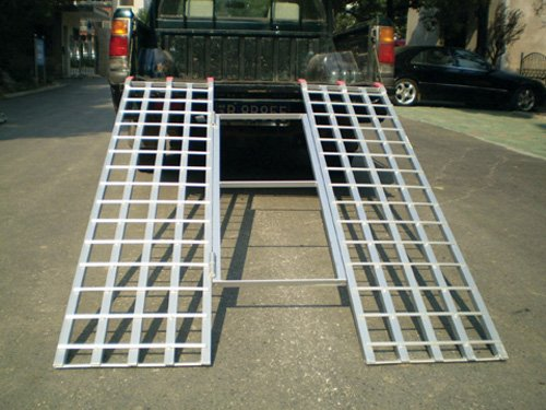 Titan Ramps 6' ft Tri-Fold Aluminum ATV Loading Ramp Motorcycle Lawn trailer truck 72