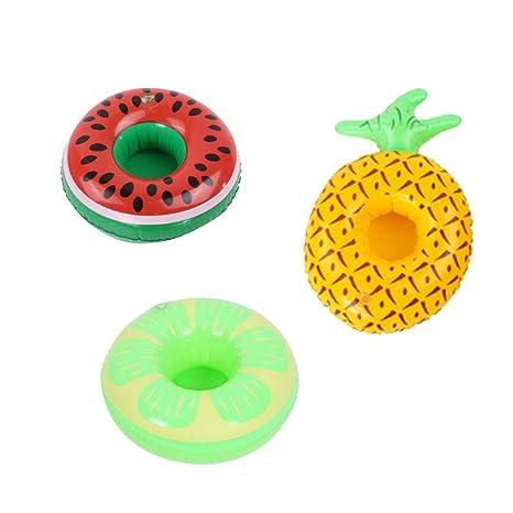 AAGOOD Juguete Inflable 3 Modelos (piña sandía limón) Flotador Inflable de la Nadada del