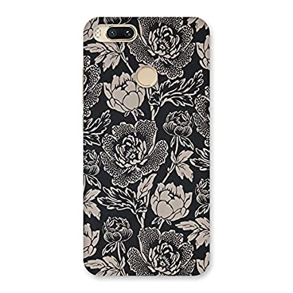 Nice Floral Beige Back Case Cover for Xiaomi MI A1: Amazon
