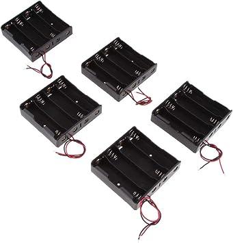 Shiwaki 18650 Soporte De La Caja De La Batería, Caja De Almacenamiento De Batería De 5 Piezas 3 Ranuras X 3.7 V DIY: Amazon.es: Electrónica
