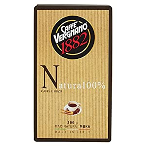 Caffè Vergnano 1882 - Natura Caffè e Orzo - 3 confezioni da 250 g [750 g]