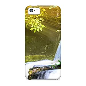 FnraM2083umMxC Case Cover Protector For Iphone 5c Sun Over Step Falls Case