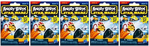 Star Wars Angry Birds Bundle of 5 Mystery Packs with 10 Figures Assortment Varies