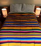 Handwoven bedspread from Oaxaca, Mexico YELLOW 160 x 220 cm