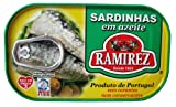 Ramirez Portuguese Sardines in Olive Oil 125 Gram Tin (Pack of 4)