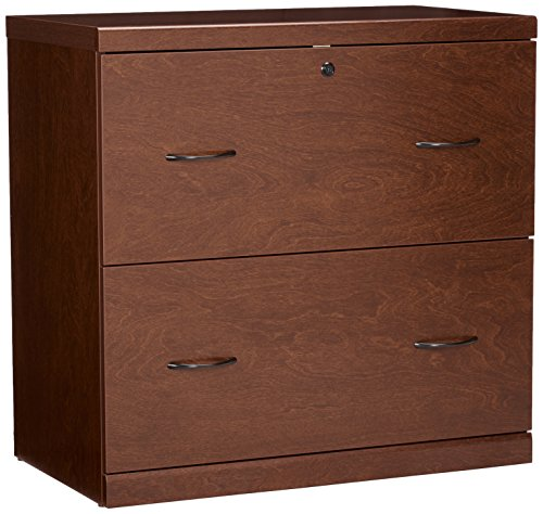 2 Legal Drawer - Z-Line Designs ZL2261-2CLU 2-Drawer Lateral File Cherry Cabinet with Black Accents