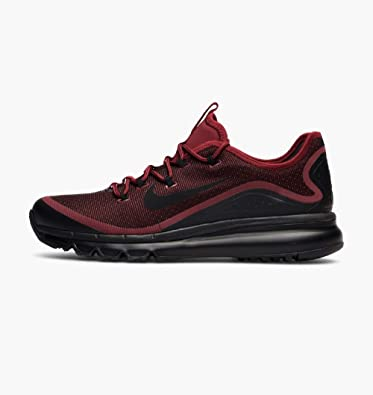 superior quality ae362 6b41f Nike Mens Air Max More Low Top Lace Up Running Sneaker, Red, Size 10.5