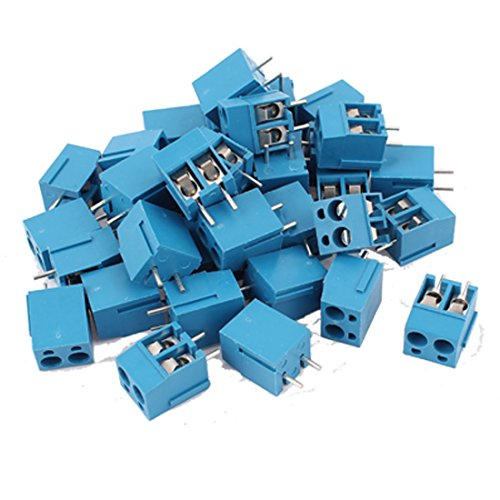 UPC 712662021643, 36 Pcs 2Pole PCB Screw Terminal Block Wire Connector 5.08mm Pitch Blue