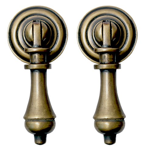 Nesha Cudgel Tear Drop Cabinet Pulls Set of 2 ()