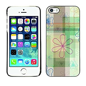 Planetar® ( Indestructible Lotus Pattern ) iPhone 5 / 5S Fundas Cover Cubre Hard Case Cover
