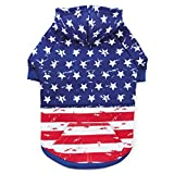 Cheap Zack & Zoey Distressed American Flag Hoodie Dogs, Large