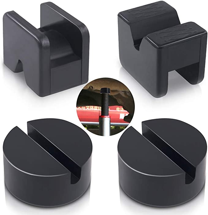 TONGXU Rubber Block Support Round Cat Jack Pad Adapter Elevation Pad for Protector Vehicles Riser Car Black 65 x 34 mm