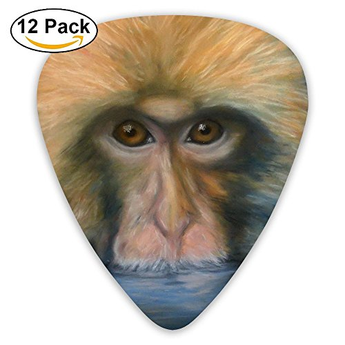 12-pack Fashion Classic Electric Guitar Picks Plectrums Monkey Face Art Instrument Standard Bass Guitarist -