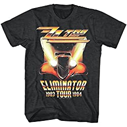 ZZ Top Rock Band Music Group Eliminator Tour 1983-84 Adult T-Shirt Tee