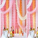ShungHO Birthday Wedding Party Paper Garland Hang Tissue Clover Strings Decor