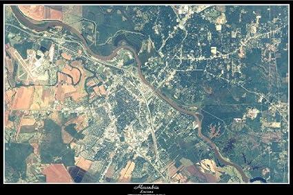 Amazon Com Alexandria Louisiana Satellite Map Poster View Print