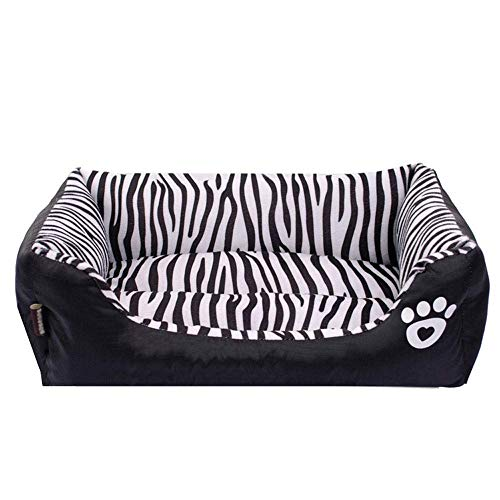 (Premium Dog's Bed, The Dog's Bed, Luxury Memory Foam Zebra Tattoo Non-Slip Bottom Pet Bed Autumn/Winter Warm Cat Nest (Size : Medium))