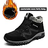 gracosy High Top Sneaker, Women Winter Warm Hook Loop Snow Shoes Fur Lining Casual Boots Ankle Bootie Black 9 B(M) US…