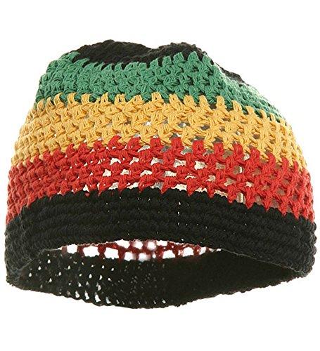 Rasta Hand Crocheted Beani Womens