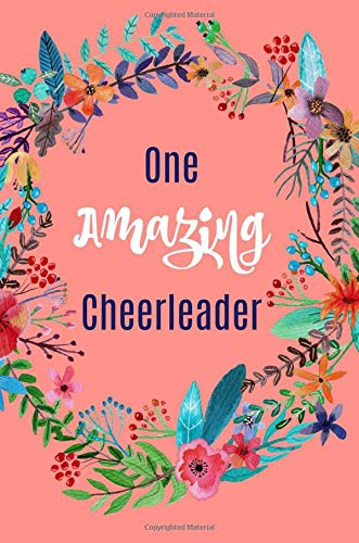 One amazing cheerleader: Gift,Notebook,Journal,diary, 6x9, lined paper, Funny,Cute por Blueberry Notebooks