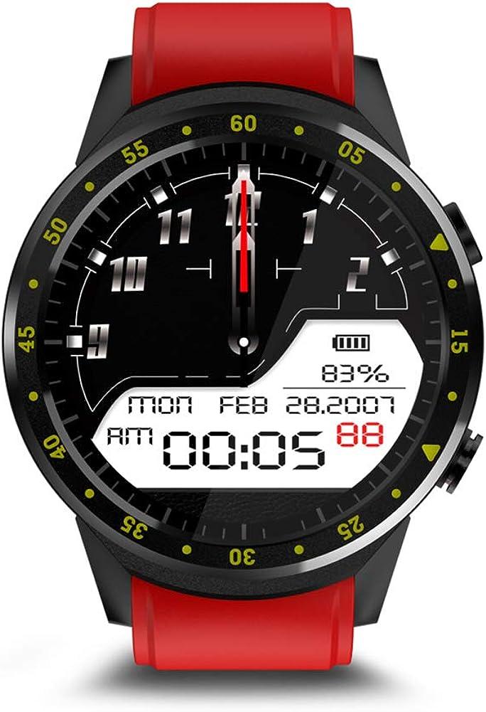 Milnnare Reloj Inteligente Bluetooth GPS Frecuencia cardíaca SIM Soporte Sport Smart Watch para Android iOS - Rojo