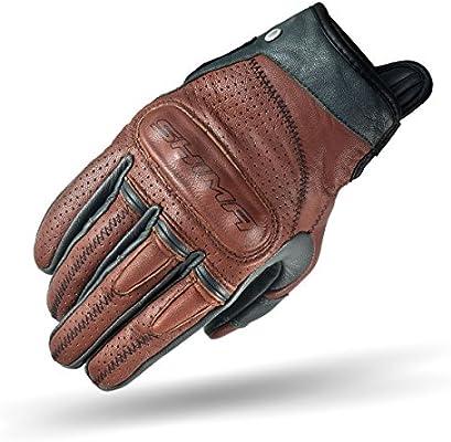 SHIMA Caliber Mens Vintage Leather Motorcycle Gloves - Brown / Large