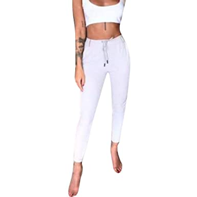 Femme Elégante Pantalons Jogging Printemps Automne Rayures Verticales Mode  Chic Poches Cordon De Serrage Slim Fit 7df31a789ee