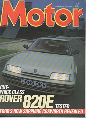 Book cover from Motor Magazine, March 7 1987 (Vol 172, No 4398) by John Thorpe