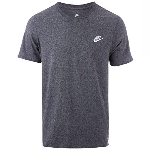 Gris Nike Charcoal Ftra Club Homme Embrd White Tee Pour shirt Heathr T charcoal M Nsw rBv4qnrZ