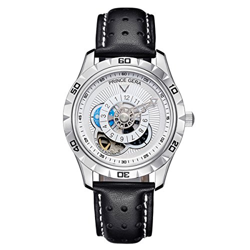 PRINCE GERA Men'Automatic Waterproof Watch Luminous Hands Watches for Men by PRINCE GERA